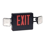 Best Lighting 137 Combination Red Exit/Lighting Unit, Black