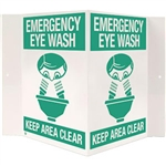 "Brooks 176P Emergency Eyewash, 3-D, Rigid Plastic, 18"" x 10"""