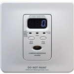 Kidde 2100742 Silhouette 120VAC, Wire-In CO Alarm w/ Digital Display & Sealed Rechargeable Battery Backup