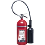 Badger 21106 Extra 10 lb CO2 Fire Extinguisher w/ Wall Hook