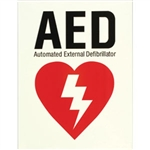 J.R. COLE INDUSTRIES 261G Glow-In-The-Dark AED Sign