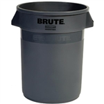 Rubbermaid 263200GY Brute Utility Waste Container, 32 gal (Gray)