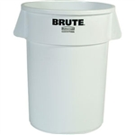 Rubbermaid 264300WH Brute Utility Waste Container, 44 gal (White)