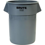 Rubbermaid 265500GY Brute Utility Waste Container, 55 gal (Gray)