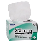 "Kimberly Clark 34721 Kimtech Science Kimwipes Wipers, Pop-Up Box, 2-Ply, 14 11/16"" x 16 19/32"", 15 Boxes/90 ea"