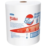 Kimberly Clark 41055 WypAll X80 Towels, Jumbo Roll, Red, 475/Roll