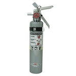 Amerex 417TC 2 1/2 lb ABC Chrome Extinguisher w/ Aluminum Valve & Vehicle/Marine Bracket