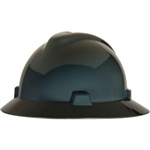 MSA 454731 V-Gard Slotted Full Brim Hard Hat with Staz-On Suspension, Grey