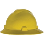 MSA 475366 V-Gard Slotted Hat w/ Fas-Trac Suspension, Yellow