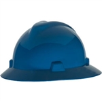 MSA 475368 V-Gard Slotted Hat w/ Fas-Trac Suspension, Blue