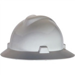 MSA 475369 V-Gard Slotted Hat w/ Fas-Trac Suspension, White