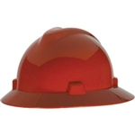 MSA 475371 V-Gard Slotted Hat w/ Fas-Trac Suspension, Red