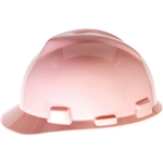 MSA 495862 V-Gard Standard Slotted Cap w/ Fas-Trac Suspension, Pink
