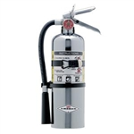 Amerex 500TC 5 lb ABC Chrome Extinguisher w/ Aluminum Valve & Vehicle/Marine Bracket