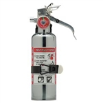 Amerex 620TC 1 lb BC Chrome Extinguisher w/ Aluminum Valve & Vehicle Bracket