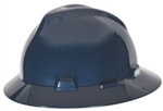 MSA 802975 V-Gard Slotted Hat w/ Fas-Trac Suspension, Dark Blue