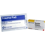 "First Aid Only AN205 5"" X 9"" Trauma Pad, Gauze, 1 Per Single Unit Box"