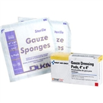 "First Aid Only B207 4""x4"" Sterile Gauze Pads, 4/box"