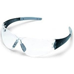 MCR Safety CK210A Crews Checkmate 2 Safety Glasses, Smoke Temple/Nosepiece, Clear, Anti-Fog Lens