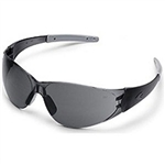MCR Safety CK212A Crews Checkmate 2 Safety Glasses, Smoke Temple/Nosepiece, Gray, Anti-Fog Lens