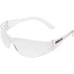 MCR Safety CL110 Crews Checklite Eyewear, Clear Lens/Frame