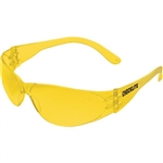 MCR Safety CL114 Crews Checklite Eyewear, Amber Lens/Frame