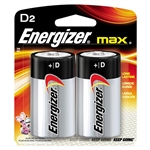 Energizer E95BP2 Max D Batteries, 2/Pkg