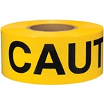 "Presco LB31022Y16 ""CAUTION"", Yellow, 8/Case"