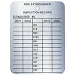 Brooks MYTAG 4-Year Metal Inspection Tag