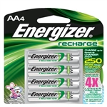 Energizer NH15BP4 Recharge AA Batteries, 4/Pkg