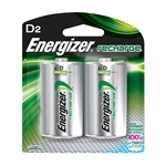Energizer NH50BP2 Recharge D Batteries (2/Pkg)