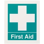 "Brooks RP144 ""First Aid"", Rigid Plastic, 8"" x 10"""