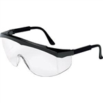 MCR Safety SS110 Crews Stratos Eyewear, Black Frame, Clear Lens