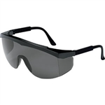 MCR Safety SS112 Crews Stratos Eyewear, Black Frame, Gray Lens
