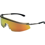 MCR Safety T311 Crews Triwear Metal Safety Glasses, Fire Mirror Lens