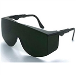 MCR Safety TC1150X Crews Tacoma XL OTG Safety Glasses, Green Filter Shade 5.0 Lens