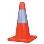 "Choice TC186 Traffic Cone w/ 6"" Reflective Collar, 18"", 2 lb"