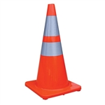 "Choice TC2864 Traffic Cone w/ 4"" & 6"" Reflective Collars, 28"", 4.5 lb"