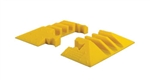 Checkers YJ3EB-225-Y Pair Cable Protector Yellow Jacket Classic, End Boot