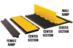 Checkers YJ5-125-AMS-F-B Each Cable Protector Yellow Jacket Ams Ramp, Female (Black)