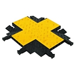 Checkers YJ5X-125-Y/B Each Cable Protector Yellow Jacket Classic, X Intersection