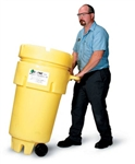 Enpac 1259-YE 50 Gallon Wheeled Poly-Overpack Salvage Drum