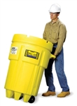 Enpac 1299-YE 95 Gallon Wheeled Poly-Overpack Salvage Drum