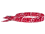 Ergodyne 12315 Chill-Its 6705 Evaporative Cooling Bandana - H & L, Red Western - 1 Each