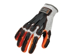 Ergodyne 17093 ProFlex 922CR Level 5 Cut Resistant Nitrile-Dipped DIR Gloves, Medium, Gray - Pack of 12 Pairs