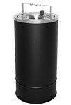 Ex-Cell 160F-BG BLX Flip Top Floor Urn, Steel, Black Texture