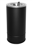 Ex-Cell 160F BLX Flip Top Floor Urn, Steel, Black Texture