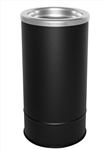 Ex-Cell 160S BLX Flip Top Floor Urn, Steel, Black Texture