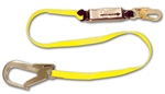 "French Creek 457A-135A 6 Ft. Shock Absorbing 1"" Web Lanyard, #74N Locking Snap One End, #135A (2 1/2"" Opening) Aluminum Snap Other End"