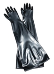 "Honeywell - North Safety 10B1532A/10H Butyl Glovebox Gloves 32"" Long, 15 Mil, 10"" Cuff/Port, Size 10.5"